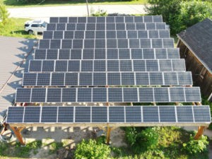 Your local electricians doing their thing with solar panels.