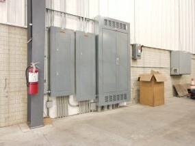 electrical services grey breaker boxes